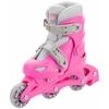 Коньки роликовые + шлем и защита Reaction розовый - фото 3