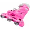 Коньки роликовые + шлем и защита Reaction розовый - фото 4