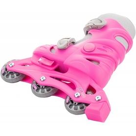 Фото 4 к товару Коньки роликовые + шлем и защита Reaction розовый