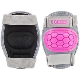 Фото 8 к товару Коньки роликовые + шлем и защита Reaction розовый