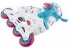 Коньки роликовые раздвижные Reaction Galaxy GL16G-0X белые с розовым - фото 3