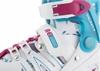 Коньки роликовые раздвижные Reaction Galaxy GL16G-0X белые с розовым - фото 7