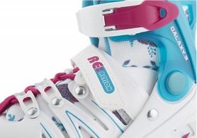 Фото 7 к товару Коньки роликовые раздвижные Reaction Galaxy GL16G-0X белые с розовым
