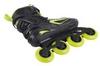 Коньки роликовые мужские Reaction Men's Inline Skates R706M9G черные с салатовым - фото 3