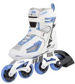 Фото 2 к товару Коньки роликовые женские Reaction Women's Inline Skates R706W-0Z белый/синий