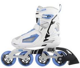 Фото 5 к товару Коньки роликовые женские Reaction Women's Inline Skates R706W-0Z белый/синий