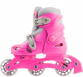 Фото 3 к товару Коньки роликовые раздвижные детские Reaction Kid's inline skates of extension-type RC15GX2 розовый