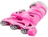 Коньки роликовые раздвижные детские Reaction Kid's inline skates of extension-type RC15GX2 розовый - фото 5
