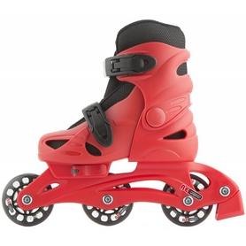 Коньки роликовые раздвижные детские Reaction RC16B-R9 красный/черный