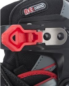 Фото 8 к товару Коньки роликовые раздвижные детские Reaction RN16B-9R черный/красный