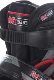 Фото 9 к товару Коньки роликовые раздвижные детские Reaction RN16B-9R черный/красный