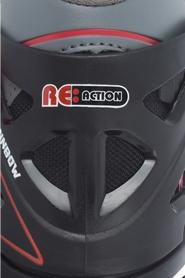 Фото 11 к товару Коньки роликовые раздвижные детские Reaction RN16B-9R черный/красный