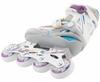 Коньки роликовые раздвижные детские Reaction RN16G-0P белый/фиолетовый - фото 3
