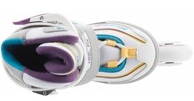 Фото 4 к товару Коньки роликовые раздвижные детские Reaction RN16G-0P белый/фиолетовый