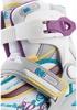 Коньки роликовые раздвижные детские Reaction RN16G-0P белый/фиолетовый - фото 7