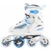 Коньки роликовые раздвижные детские Reaction TR15G0Z белый/синий - фото 1