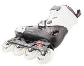 Фото 2 к товару Коньки роликовые Reaction Inline skates URB14-BR черный/красный