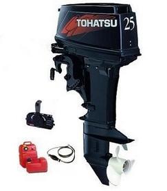Фото 1 к товару Мотор лодочный двухтактный Tohatsu M25H EPS