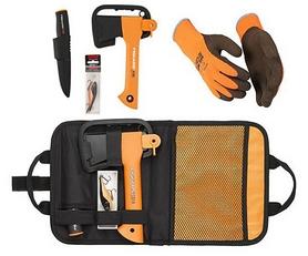 Фото 1 к товару Набор подарочный Fiskars Rapala (топор туристический X5 + нож + блесна)