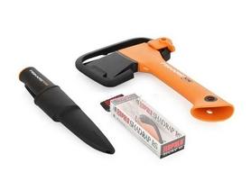Фото 2 к товару Набор подарочный Fiskars Rapala (топор туристический X5 + нож + блесна)