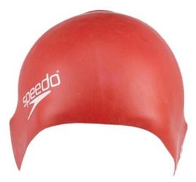 Шапочка для плавания детская Speedo Plain Moulde Silicone Junior Cap Red