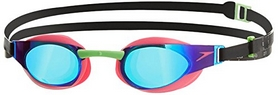 Фото 1 к товару Очки для плавания Speedo Elite Goggles Mirror AU Pink/Green
