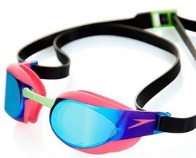 Фото 2 к товару Очки для плавания Speedo Elite Goggles Mirror AU Pink/Green