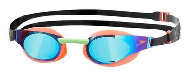 Очки для плавания Speedo Elite Goggles Mirror AU Orange/Green