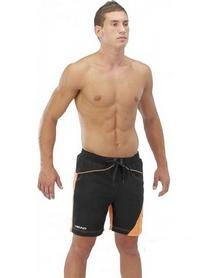 Фото 2 к товару Шорты для плавания Head Watershorts Man 45 см мужские (черно-оранжевые)