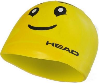 Шапочка для плавания детская Head Silicone Sketch Skul желтая