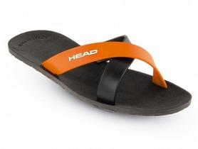 Фото 1 к товару Тапочки для бассейна Head Prize черно-оранжевые