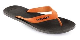 Фото 1 к товару  Тапочки для бассейна мужские Head Team черно-оранжевые