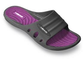 Фото 1 к товару Тапочки для бассейна женские Head Loop черно-фиолетовые