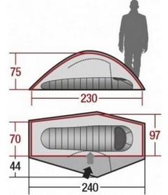 Фото 5 к товару Палатка одноместная Wechsel Pathfinder 1 Zero-G Line