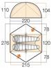 Палатка двухместная Vango Zephyr 200 Terracotta - фото 3