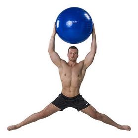 Фото 7 к товару Мяч для фитнеса (фитбол) Tunturi Gymball 55 см, синий