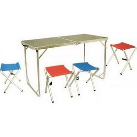 Фото 1 к товару Стол раскладной + 4 стула Tramp TRF-035