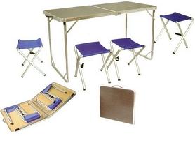Фото 2 к товару Стол раскладной + 4 стула Tramp TRF-035