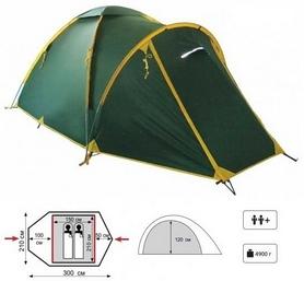 Фото 2 к товару Палатка двухместная Tramp Space 2