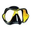 Маска Mares X-VISION Liquidskin 13 чёрно-жолтая - фото 1