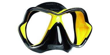 Маска для дайвинга Mares X-Vision Ultra LS черно-желтая