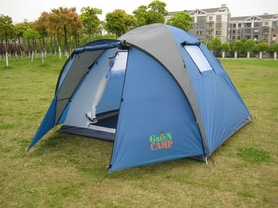 Фото 1 к товару Палатка четырехместная GreenCamp 1004