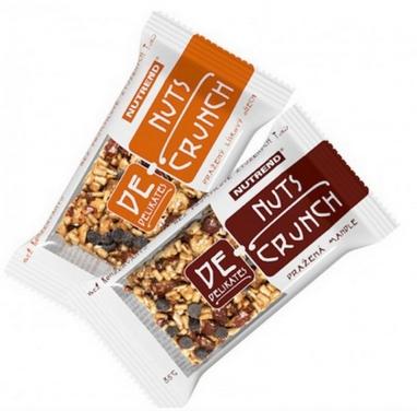 Батончик протеиновый Nutrend DeNuts Crunch 35 г (лесной орех)
