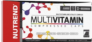 Витамины Nutrend Multivitamin Compressed Caps 60 caps