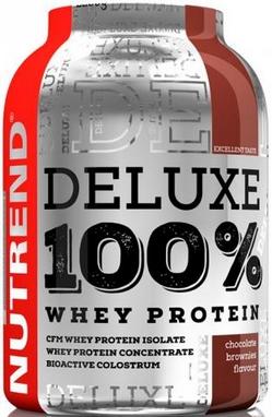 Протеин Nutrend Deluxe 100% Whey 900 г (клубничный чизкейк)