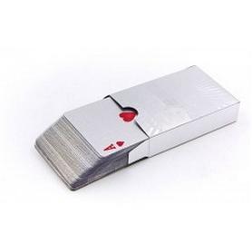 Фото 1 к товару Карты игральные с пластиковым покрытием SILVER 100 DOLLAR IG-4566-S