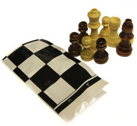 Фигуры для шахмат и игровое полотно ZLT IG-3103-Wood-Shahm