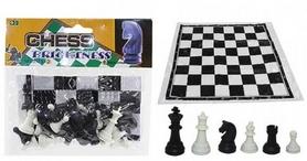 Фигуры для шахмат и игровое полотно IG-3103-Plast-Shahm