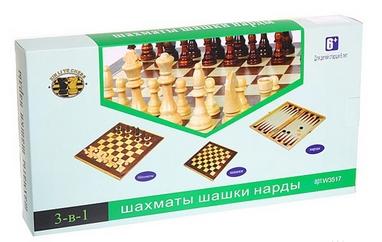 Набор настольных игр 3 в 1 (шахматы, шашки, нарды) W3015