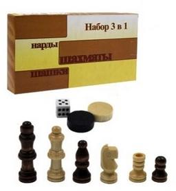 Набор настольных игр 3 в 1 (шахматы, шашки, нарды) W7721